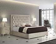 Ivory Bed with Storage EF Adiana