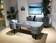 Light Gray Veneer Desk SH Claire