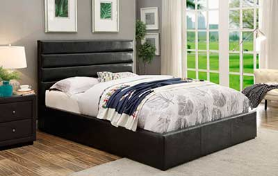 Black Leatherette Storage bed CO 469