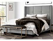 Light Gray Storage bed DS Bevin