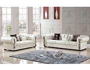 Ivory Bonded Leather Sofa set AE 608