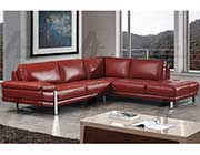 Red Leather Sectional Sofa AE 025