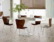 Astrid White GLoss Dining table by Eurostyle