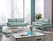 Teal Genuine Leather Sofa set AE 152