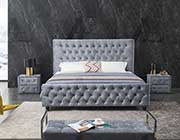 Gray Fabric Bed AE 073