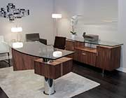 Modern Office Desk in Walnut Wood KI 88