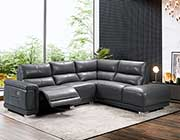 Grey Sectional Sofa Power Recliner EF 901