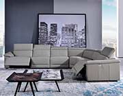 Light Gray Leather sectional sofa AE 303