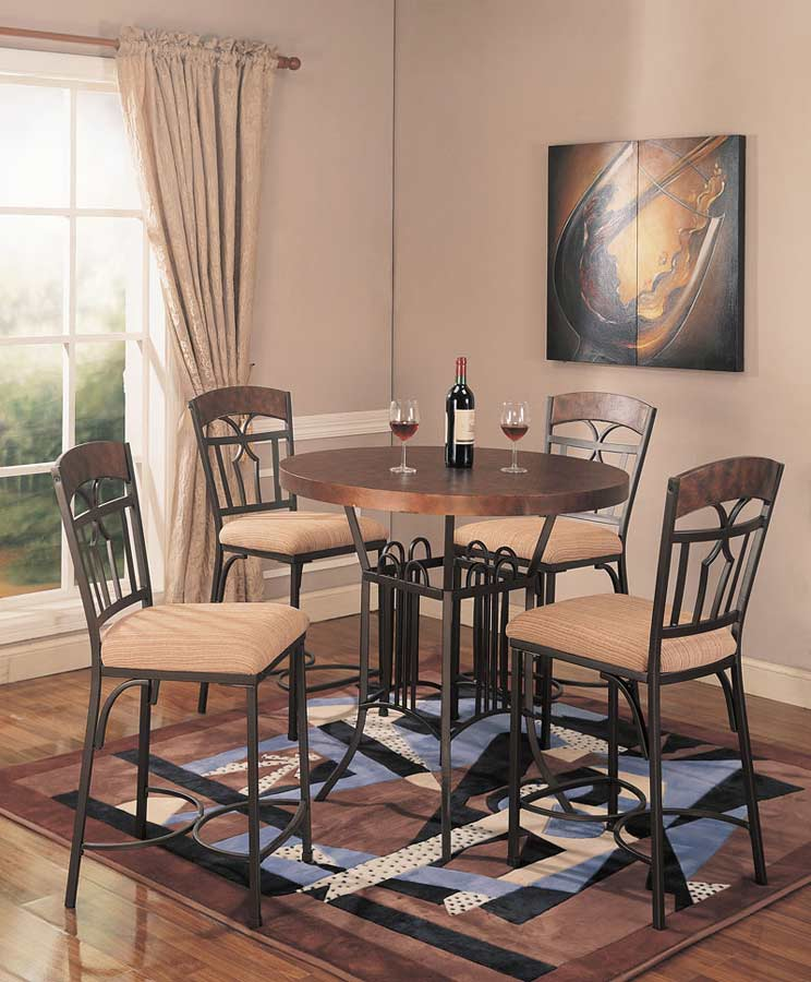Set Of 2 Kitchen Counter Height Chairs With Microfiber: Set Of 2 Dilana Copper Counter Height Chairs