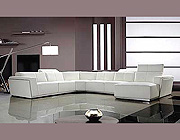 HE 654 Contemporary Leather Sectional Sofa