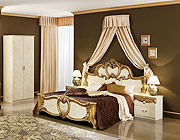 Biaggio Ivory-Gold bedroom collection