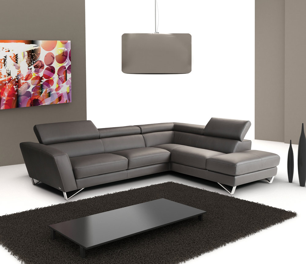 - Sparta Italian Leather Sectional Sofa Leather Sectionals