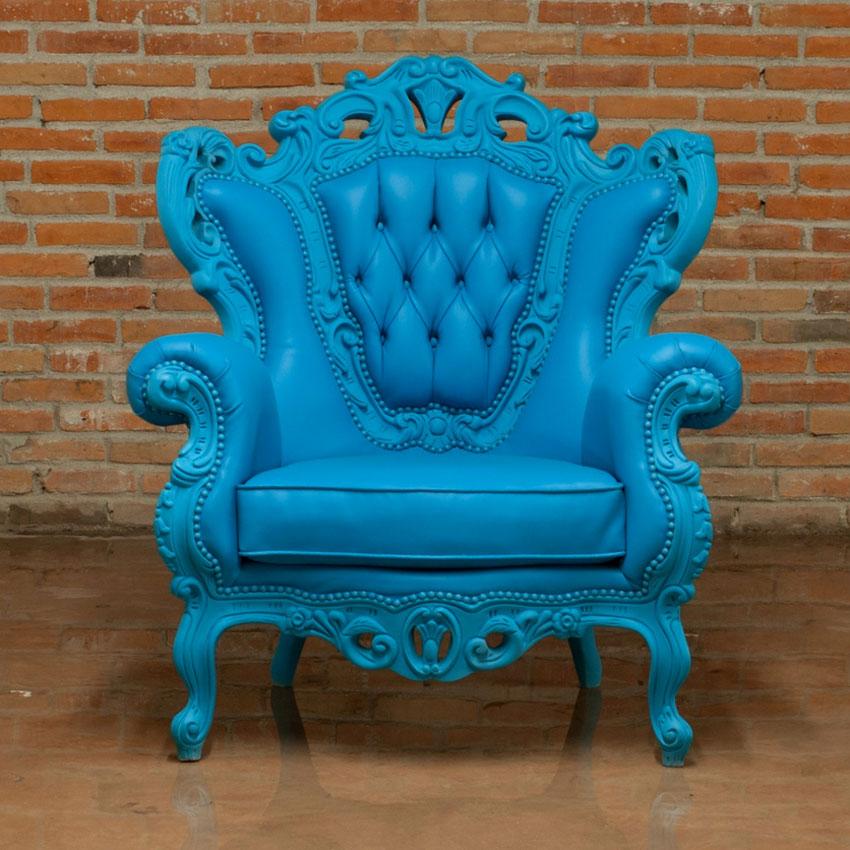 Blue Armchair Glamour 609