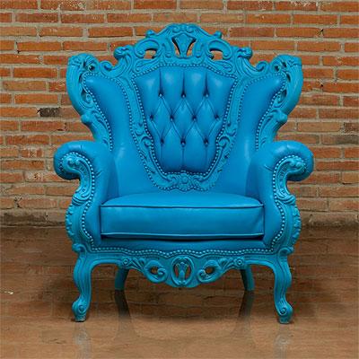 Blue Armchair Glamour 609 Modern Chairs