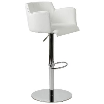 Sunny Design Furniture on Sunny Adjustable Bar Counter Stool White Chrome   Bar Stools