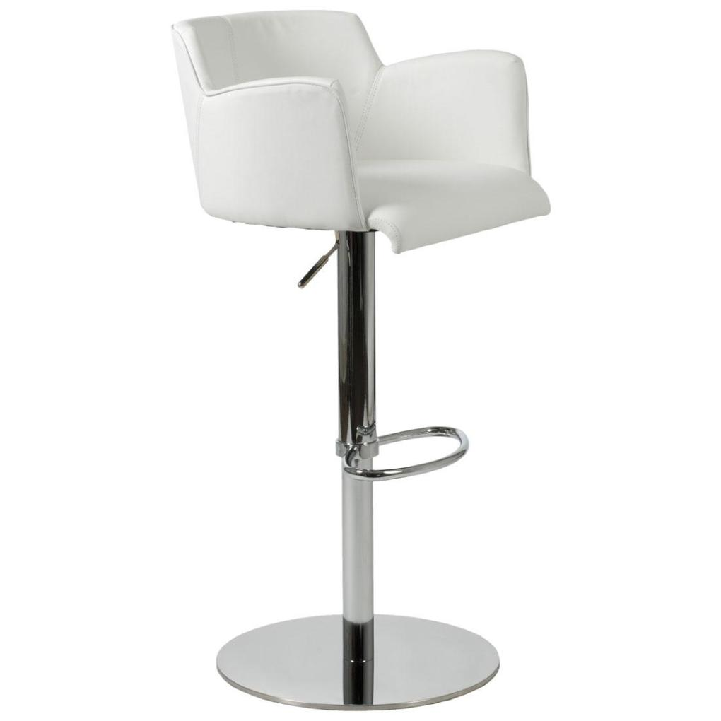Sunny Adjustable Bar Counter Stool White Chrome Bar Stools