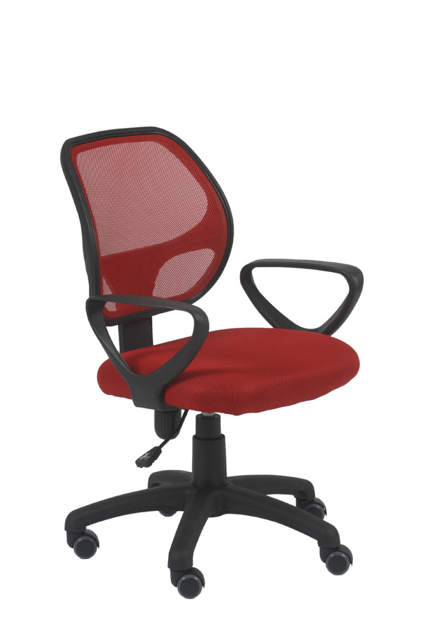 Percy Red Swivel Office Chair