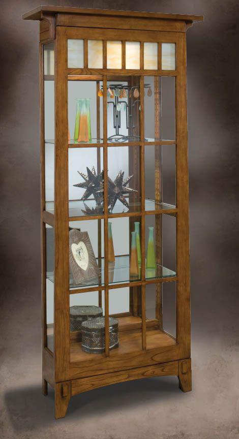 Two Way Sliding Door Curio Cabinet Classic Curio