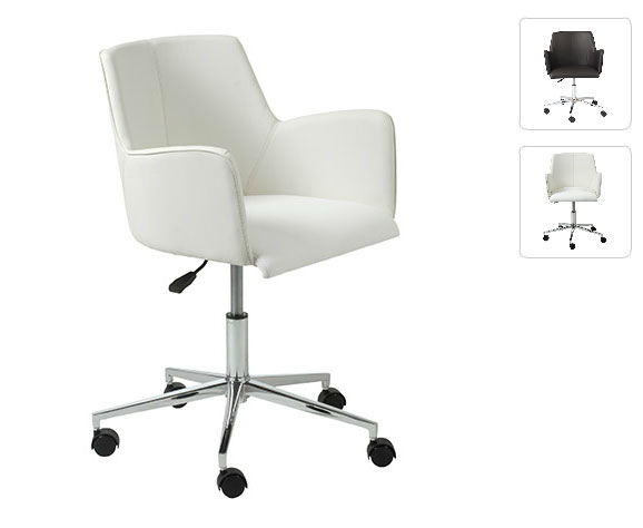 Santos White Office Chair
