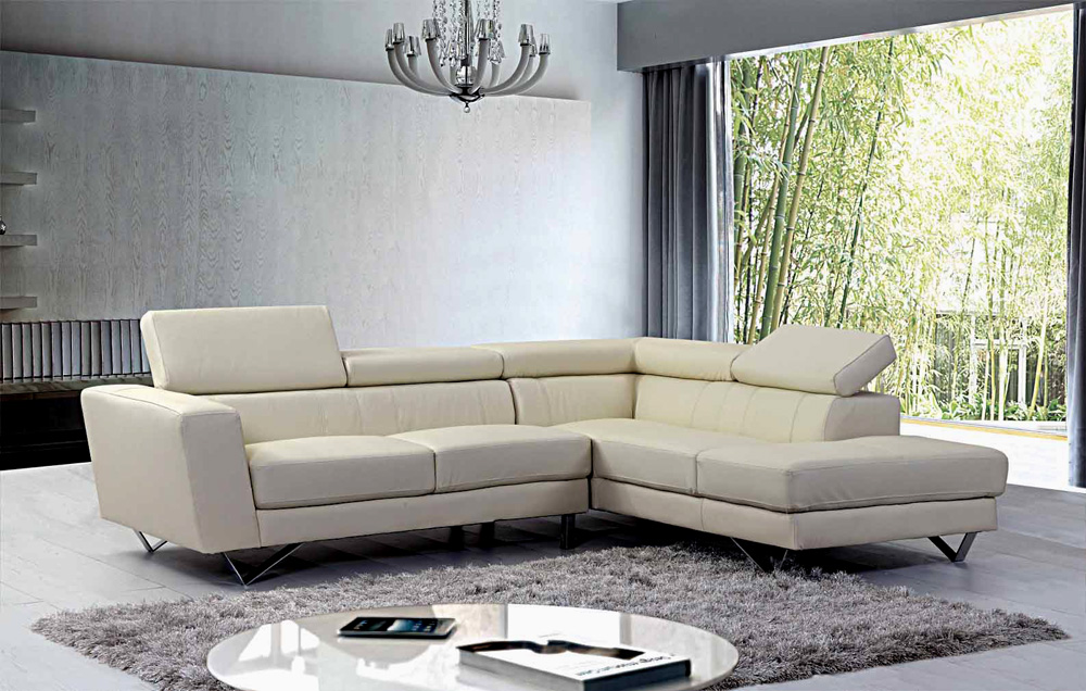 Liza Leather L Shaped Sectional Sofa Leather Sectionals