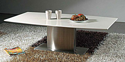 Modern coffee table with marble top CR909
