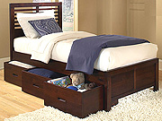 Medium Cherry Bed with Three Storage Boxes HE348