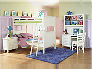 White Bunk Bedroom set HE875
