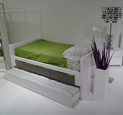 Italian Design Kids Bed with Storage and Trundle