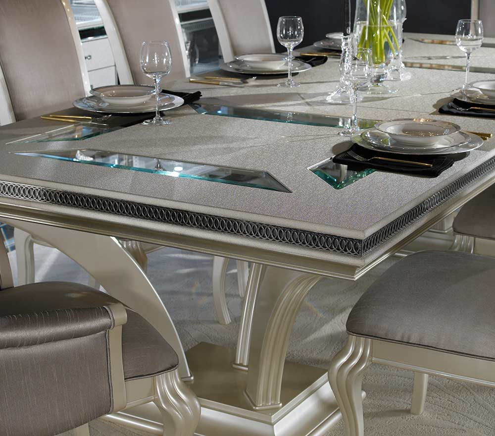 Hollywood Swank Large Dining Table By AICO ...