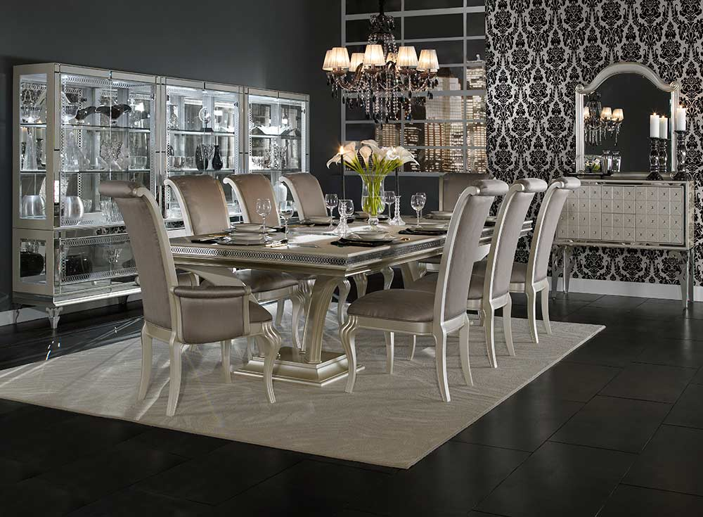 Hollywood Swank Large Dining Table By Aico Aico Dining Room Furniture