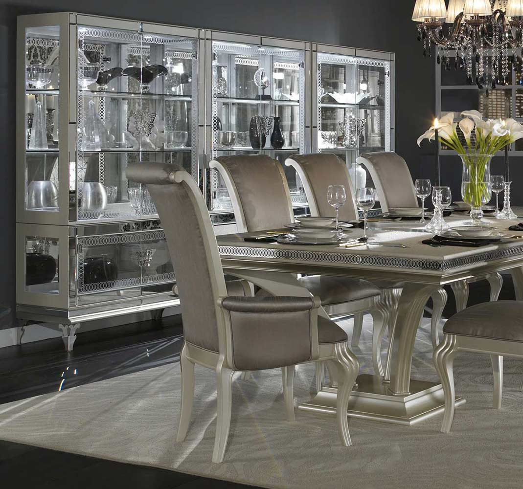 Large Dining Room Chairs hollywood swank large dining tableaico | aico dining room