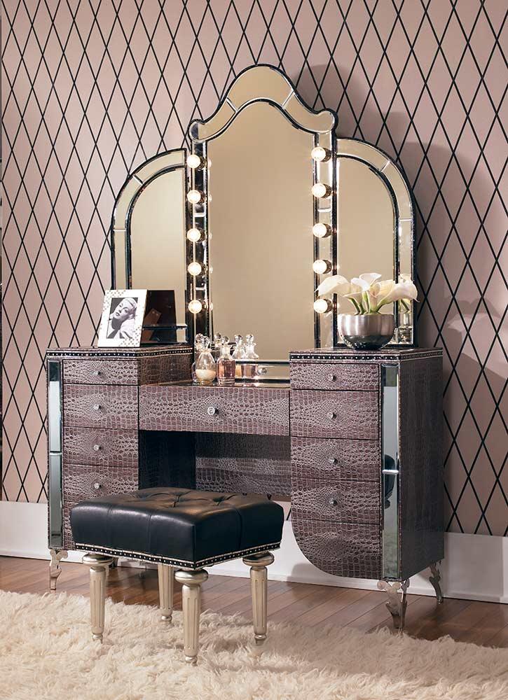 Hollywood Swank Vanity By Aico Aico Bedroom Furniture