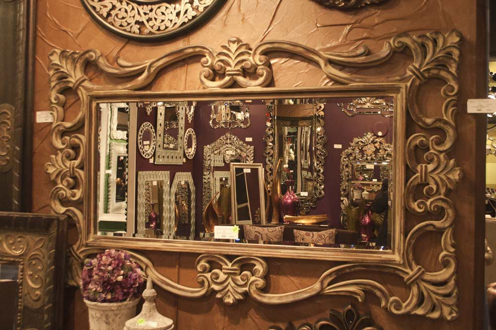 Ornament Designer Mirror In Tuscan Brown Hre 110 Accent