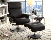 Swivel Reclining Chair with Ottoman HE50