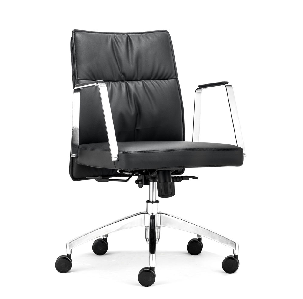 Contemporary black office chair z 136 office chairs for Contemporary home office chairs