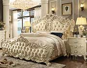 Traditional Tufted Beige Bed HD 85