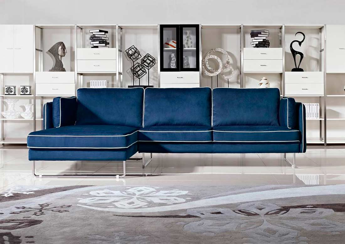 blue sectional sofa chippendale sofa neu beziehen. Black Bedroom Furniture Sets. Home Design Ideas