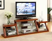 Oak TV Stand with Tempered Glass PDX441