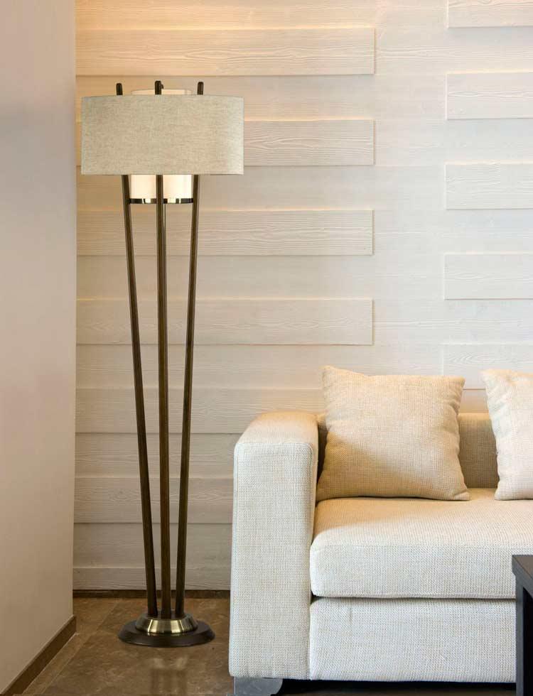 Pecan Floor Lamp Nl178 Floor Amp Table
