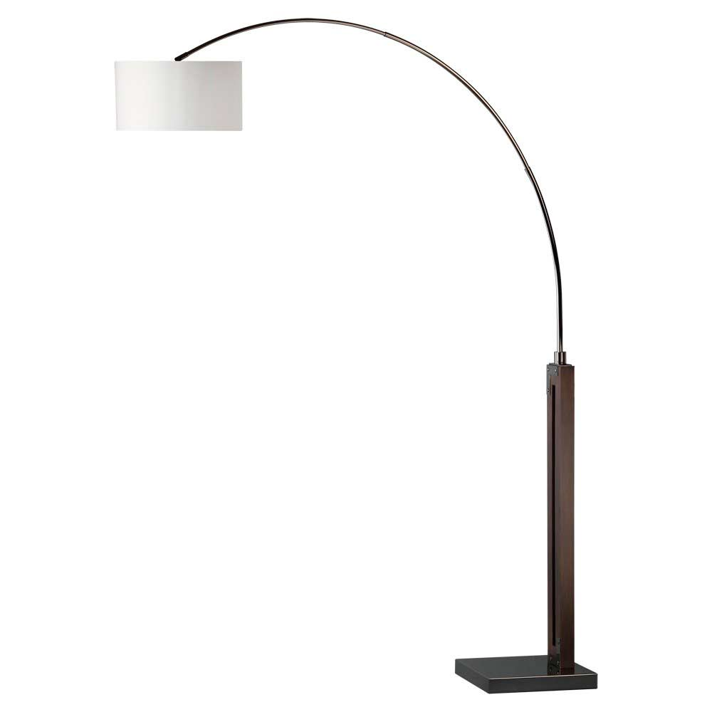 Pecan And Black Arc Lamp Nl464 Floor Amp Table