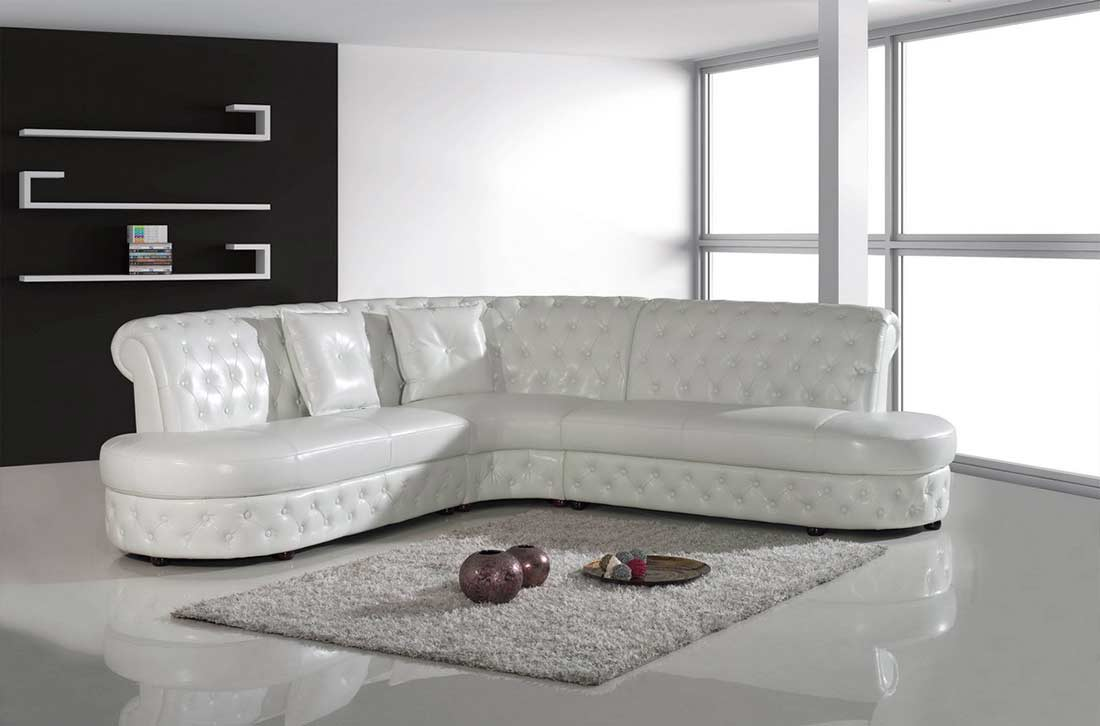 modern white leather sectional sofa vg818 leather sectionals. Black Bedroom Furniture Sets. Home Design Ideas