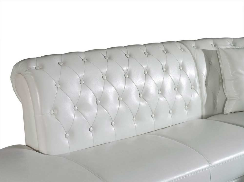 Modern White Leather Sectional Sofa Vg818 Leather Sectionals