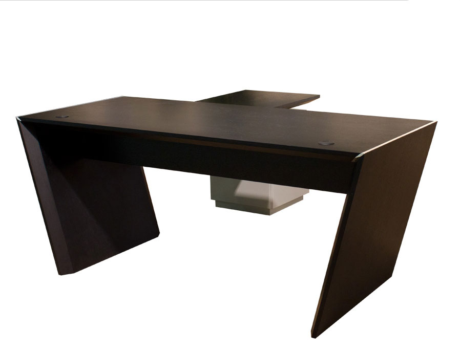 Austin modern office l shaped desk executive for Modern desks for offices