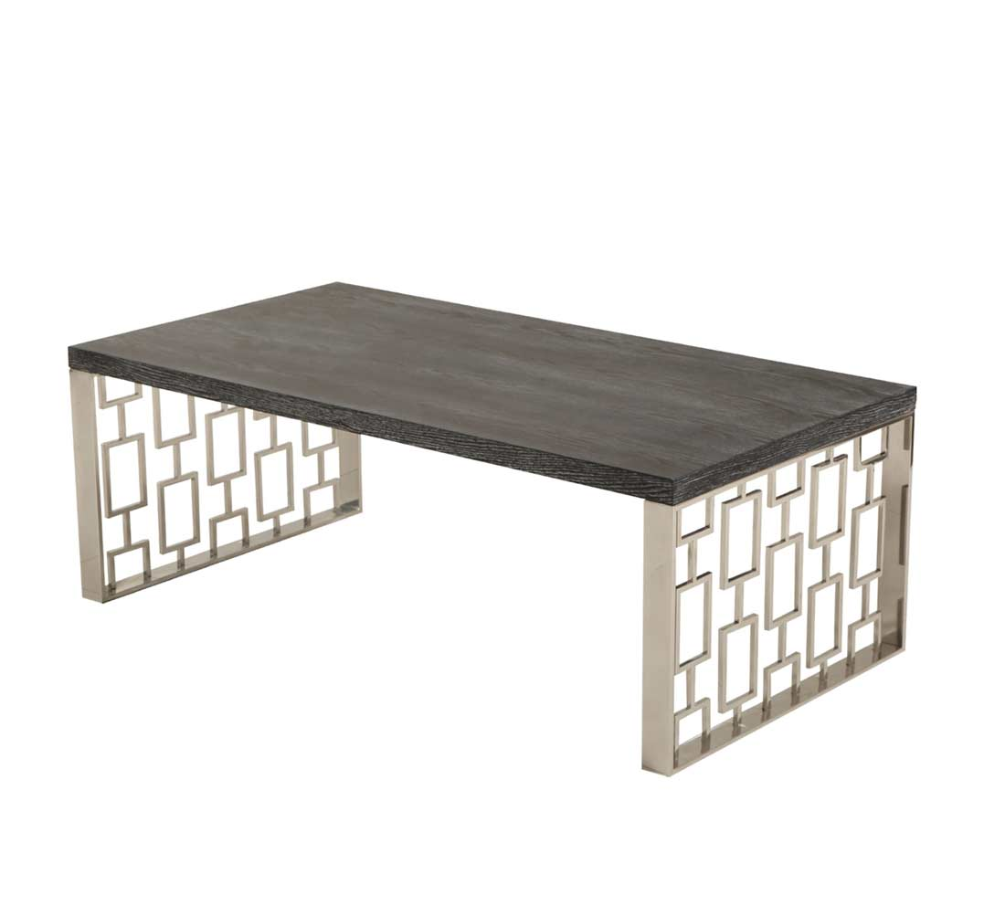 Modern coffee table with charcoal top ar cloud contemporary for Charcoal coffee table
