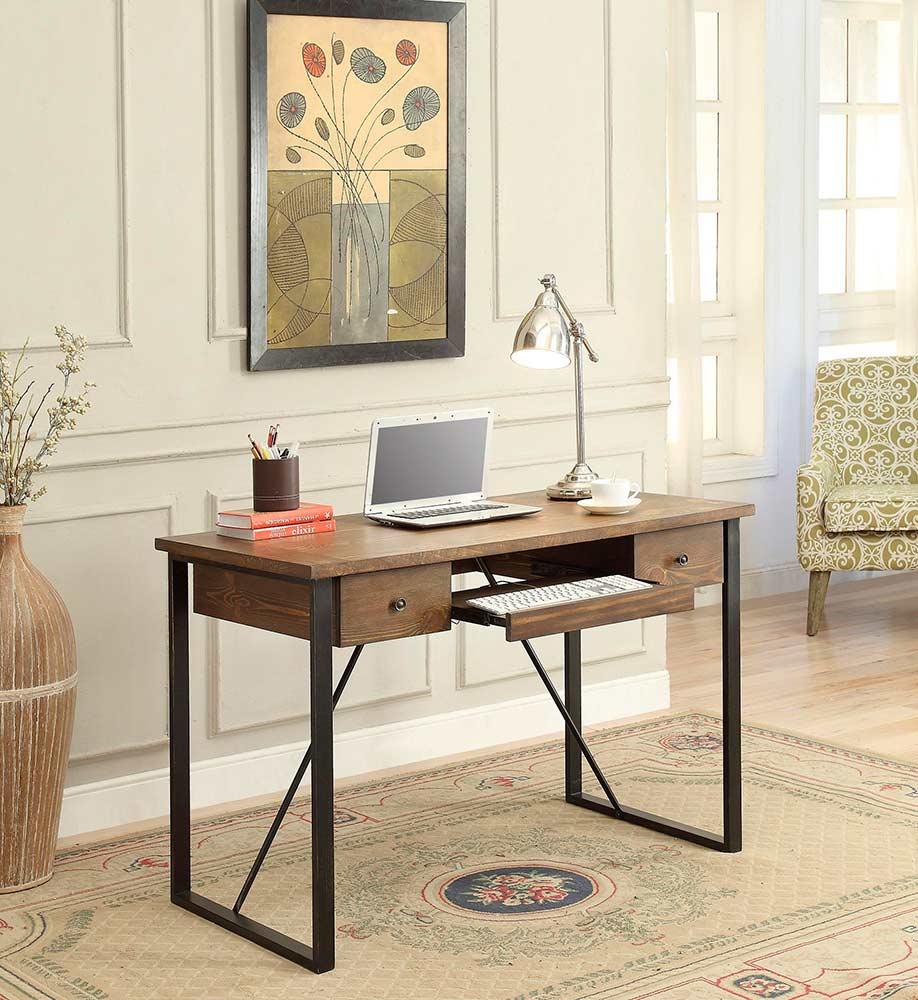 Industrial Style Desk With Keyboard Drawer Co 200  Desks. Richards Trunk Desk. Computer Desk Posture. Bedford Desk. Affordable End Tables. Over Desk Shelf Unit. Accent Table Lamps. Restoration Hardware Farmhouse Table. Norton Help Desk