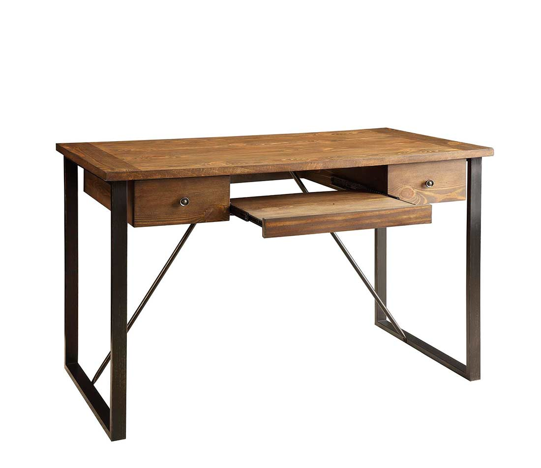 Industrial Style Desk With Keyboard Drawer Co 200 Desks