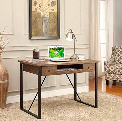 Industrial Style Desk with Keyboard Drawer CO 200