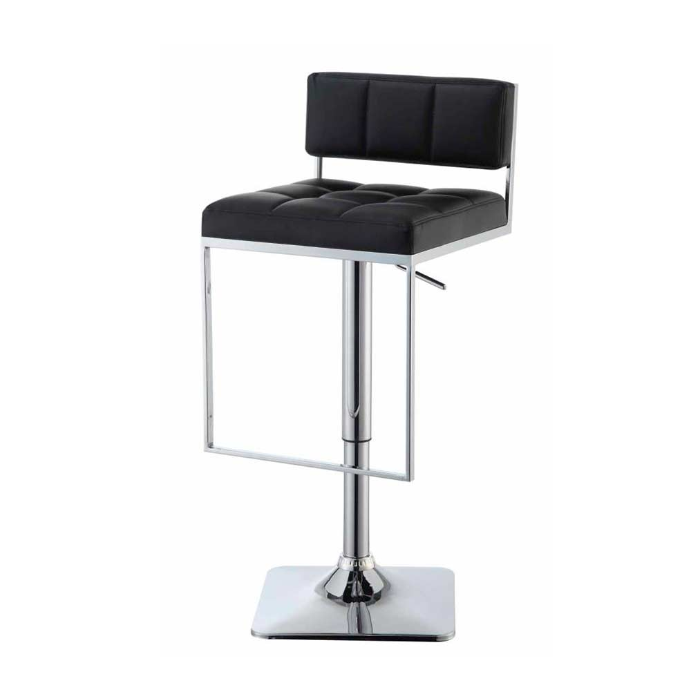 Black Leatherette Adjustable Bar Stool Co 194 Bar Stools