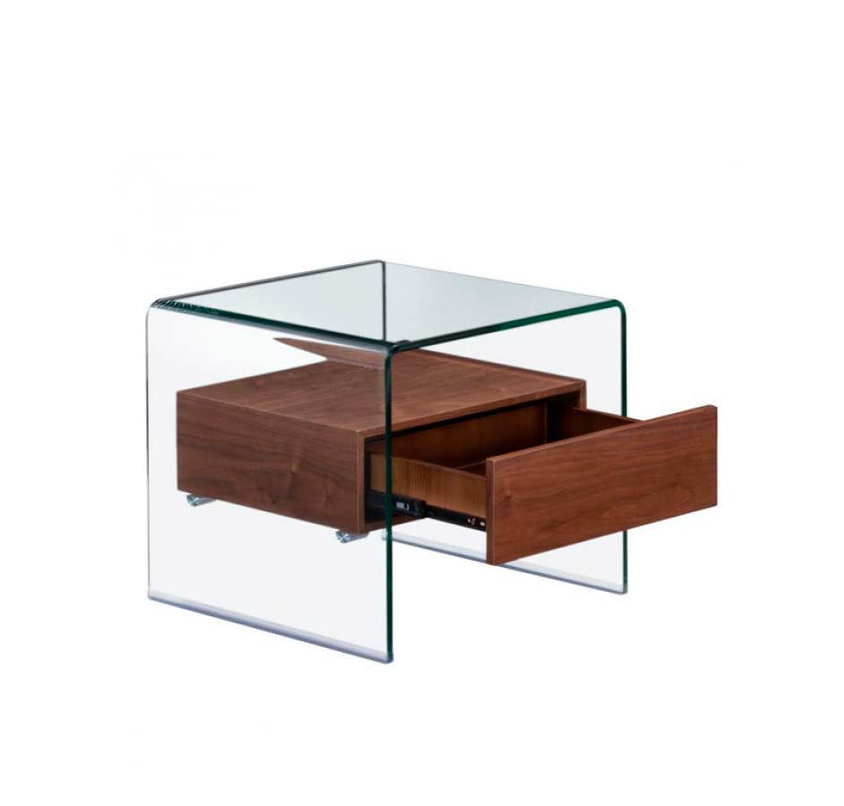 Modern Walnut Coffee Table Z068 Contemporary