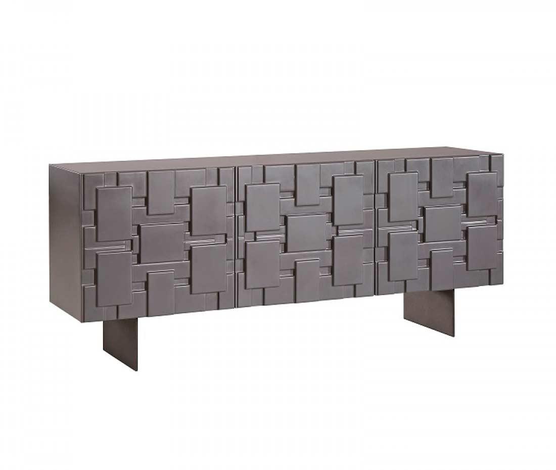 modern buffets  contemporary stations - modern dark grey matte buffet vg